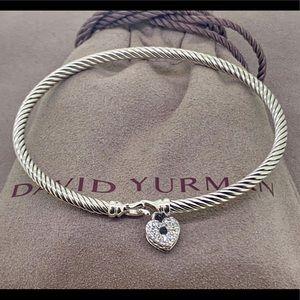 David Yurman ❤️ Heart Lock Bracelet & Diamonds 💎